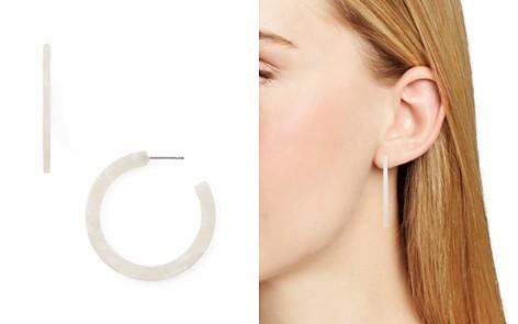 AQUA Thin Marble Lucite Hoop Earrings - 100% Exclusive - Bloomingdale's_2