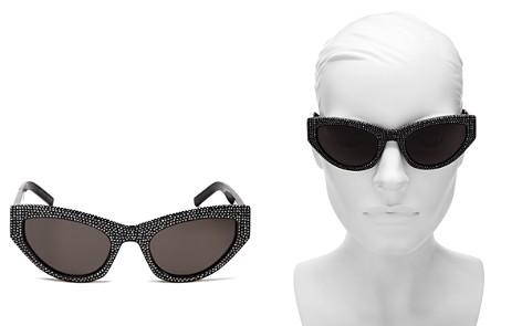 Saint Laurent Women's Grace Embellished Cat Eye Sunglasses, 54mm - Bloomingdale's_2