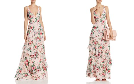 Fame and Partners Delany Floral-Print Ruffled Gown - Bloomingdale's_2