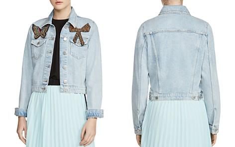 Maje Vivou Embellished Denim Jacket - Bloomingdale's_2