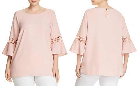 Designer plus size clothing for women bloomingdales estelle blushing crochet inset bell sleeve top 100 exclusive bloomingdales2 reheart Gallery