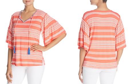 Cupio Striped Bell-Sleeve Tassel Top - Bloomingdale's_2