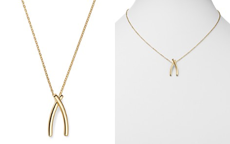 "Bloomingdale's Crossover Pendant Necklace in 14K Yellow Gold, 18"" - 100% Exclusive_2"