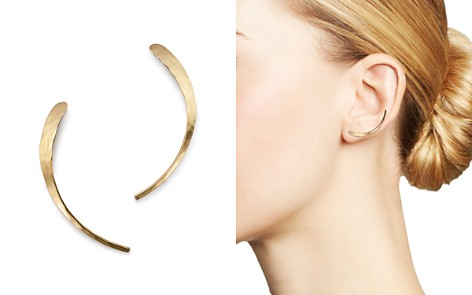 Bloomingdale's Half Moon Ear Climbers in 14K Yellow Gold - 100% Exclusive_2