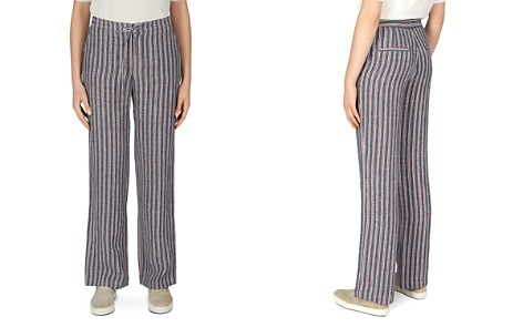 Gerard Darel Maggie Striped Linen Drawstring Pants - Bloomingdale's_2