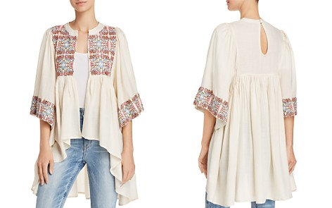 AQUA Embroidered High/Low Kimono - 100% Exclusive - Bloomingdale's_2