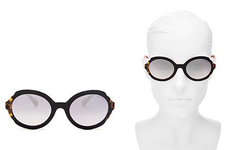 Prada Women's Eiquette Mirrored Round Sunglasses, 53mm - Bloomingdale's_2