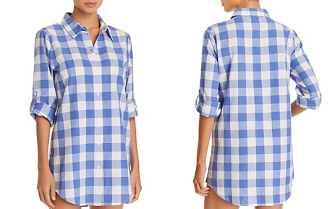 Nanette Lepore Capri Gingham Shirt Dress Swim Cover-Up - Bloomingdale's_2