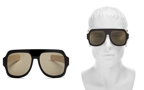 Gucci Men's Oversized Flat Top Round Sunglasses, 59mm - Bloomingdale's_2
