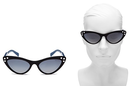 Miu Miu Women's Embellished Mirrored Gradient Cat Eye Sunglasses, 55mm - Bloomingdale's_2