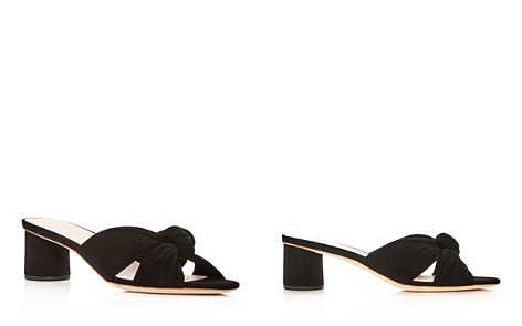 Loeffler Randall Women's Celeste Suede Knot Mid Heel Slide Sandals - Bloomingdale's_2