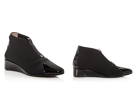 Taryn Rose Women's Camila Patent Leather & Neoprene Demi Wedge Booties - Bloomingdale's_2