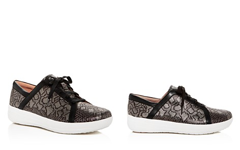 FitFlop Women's F-Sporty II Python-Embossed Leather Platform Lace Up Sneakers - Bloomingdale's_2
