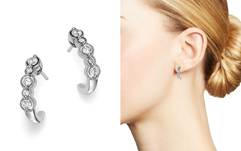 Bloomingdale's Diamond Milgrain J Hoop Earrings in 14K White Gold, 0.50 ct. t.w. - 100% Exclusive _2