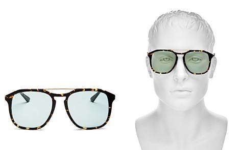 Gucci Brow Bar Square Sunglasses, 60mm - Bloomingdale's_2