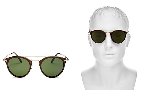 Oliver Peoples Remick Brow Bar Round Sunglasses, 50mm - Bloomingdale's_2