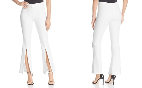 Badgley Mischka Slit Cropped Flare Pants - Bloomingdale's_2