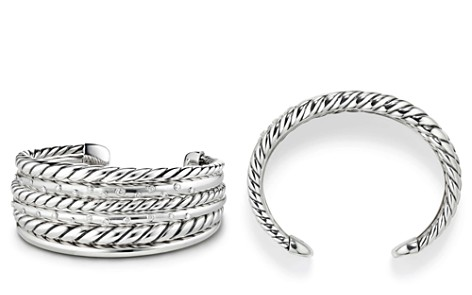 David Yurman Pure Form Cuff Bracelet with Diamonds - Bloomingdale's_2