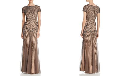 Adrianna Papell Embellished Short-Sleeve Gown - Bloomingdale's_2