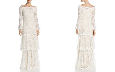 Tadashi Shoji Off-the-Shoulder Lace Gown - Bloomingdale's_2