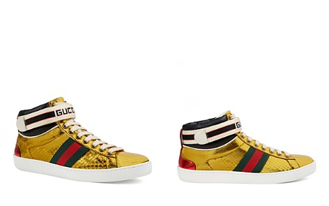 Gucci Women's Ace High Metallic Snakeskin Sneakers - Bloomingdale's_2