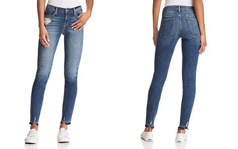 FRAME Le Skinny De Jeanne Released Hem Slit Jeans in Roberts - Bloomingdale's_2