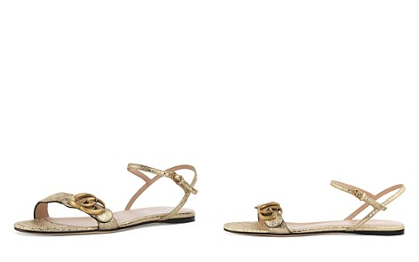 Gucci Women's Leather Double G Sandals - Bloomingdale's_2