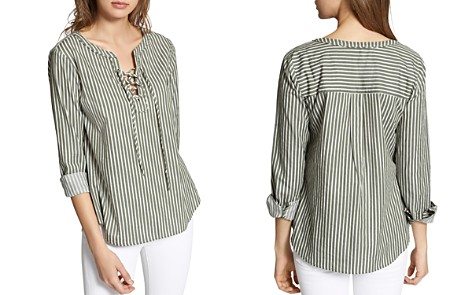 Sanctuary Tommie Striped Lace-Up Top - Bloomingdale's_2