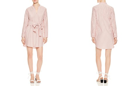 Sandro Franz Striped Tie-Front Cotton Shirt Dress - Bloomingdale's_2
