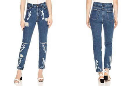 Sandro Rebecca Lightning Bolt Graphic Jeans - Bloomingdale's_2