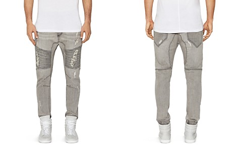 NXP Destroyer Moto New Tapered Fit Jeans in Wolf Gray - Bloomingdale's_2