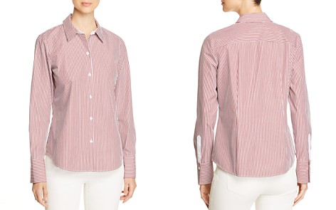 Lafayette 148 New York Linley Pinstriped Linen Blouse - Bloomingdale's_2