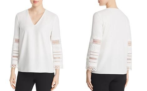 Elie Tahari Elvira Embroidered-Sleeve Blouse - Bloomingdale's_2