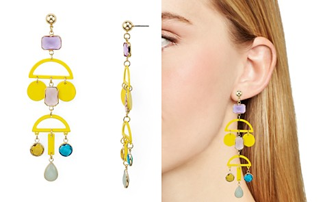 AQUA Geometric Metal Earrings - 100% Exclusive - Bloomingdale's_2