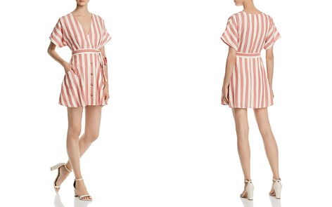 AQUA Button Detail Striped Dress - 100% Exclusive - Bloomingdale's_2