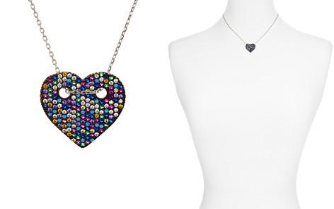 "AQUA Sterling Silver Multi Color Heart Pendant Necklace, 14"" - 100% Exclusive - Bloomingdale's_2"
