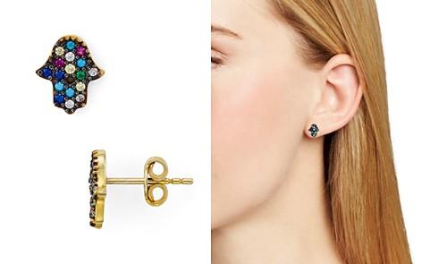 AQUA Multi Color Hamsa Stud Earrings - 100% Exclusive - Bloomingdale's_2