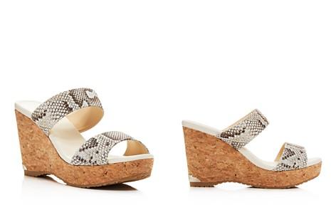 Jimmy Choo Women's Parker 100 Snake-Embossed Leather Platform Wedge Slide Sandals - Bloomingdale's_2