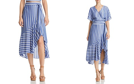 Lucy Paris Sophie Striped Faux-Wrap Skirt - 100% Exclusive - Bloomingdale's_2