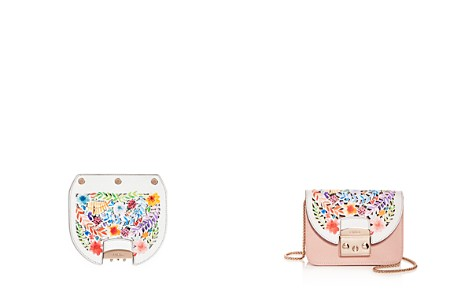 Furla MY PLAY Interchangeable Metropolis Mini Laser-Cut Ladybug Floral Print Leather Flap - Bloomingdale's_2