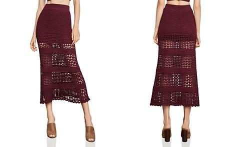 BCBGMAXAZRIA Crochet Midi Skirt - Bloomingdale's_2