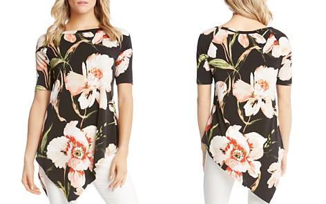 Karen Kane Asymmetric Floral Top - Bloomingdale's_2