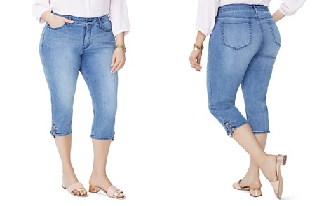NYDJ Plus Lace-Up Cuff Skinny Capri Jeans in Point Dume - Bloomingdale's_2