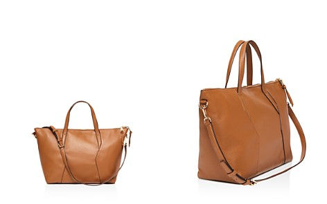 Sandro Yza Leather Zip Tote - Bloomingdale's_2