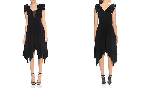 HALSTON HERITAGE Ruffled Handkerchief Hem Midi Dress - Bloomingdale's_2