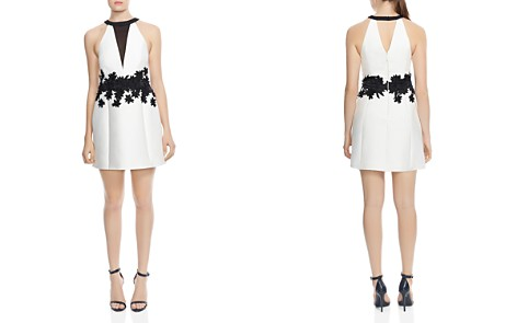 HALSTON HERITAGE Floral-Embroidered A-Line Mini Dress - Bloomingdale's_2