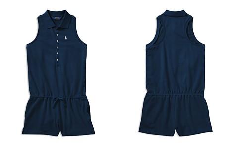 Polo Ralph Lauren Girls' Polo Romper - Big Kid - Bloomingdale's_2