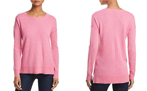 AQUA High/Low Cashmere Sweater - 100% Exclusive - Bloomingdale's_2