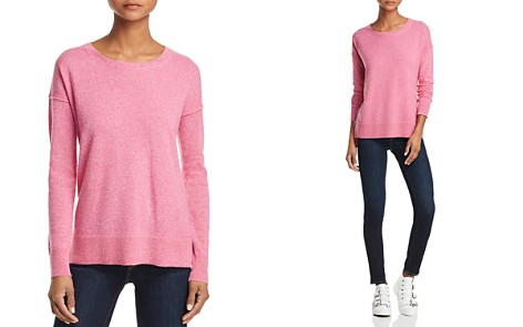 AQUA Cashmere High/Low Cashmere Sweater - 100% Exclusive - Bloomingdale's_2