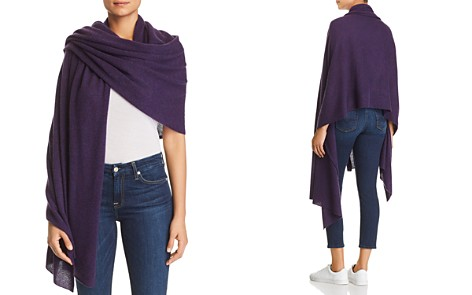C by Bloomingdale's Lightweight Cashmere Travel Wrap - 100% Exclusive _2